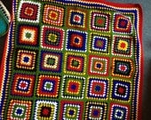 made to order medium crochet blanket, 120x120, colours of south african flag