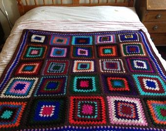 custom-made crochet blanket, large, 150cm x 150cm