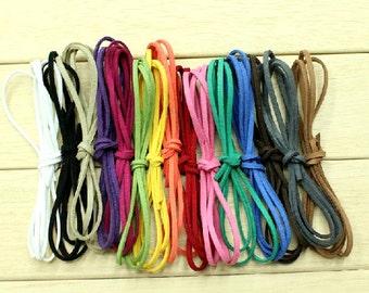 10pcs Suede Leather String Leather Ribbon Cords Hide Rope String for Crafts Bracelet/necklace DIY