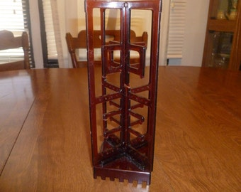 Vintage Amber Colored Jewelry Holder