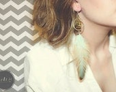 Buddha Charm Feather Earrings