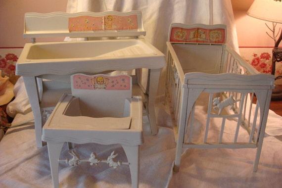 vintage baby brite nursery doll furniture 1963. Black Bedroom Furniture Sets. Home Design Ideas