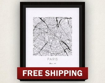 Paris Map Print