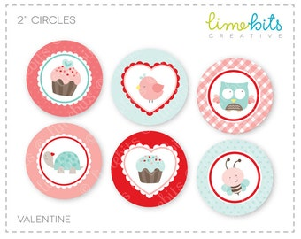 "2"" Valentine Circles."