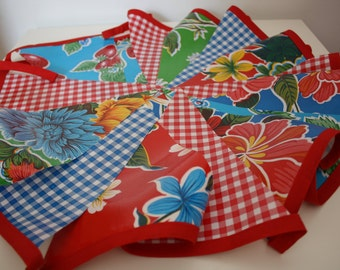 Oilcloth Bunting - Great For Outdoors - Perfect For Summer