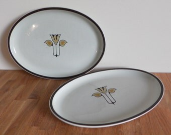 Denby Pottery - Kimberly Pattern - Two Serving Platters