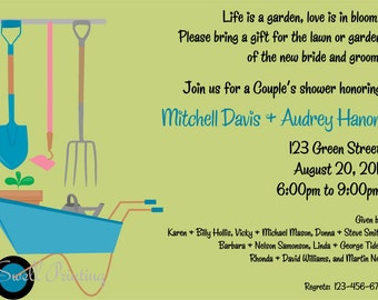Lawn and Garden Shower Invitation Couple Shower Invitation
