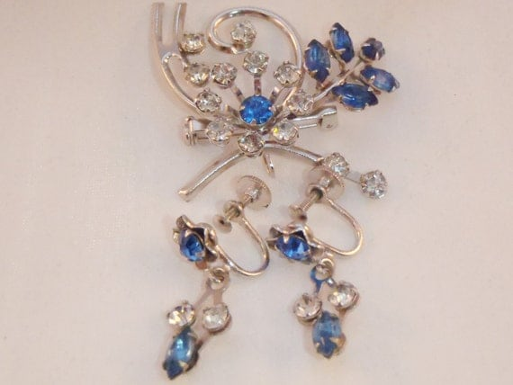 Vintage bugbee niles demi parure brooch and earrings for Bugbee and niles jewelry