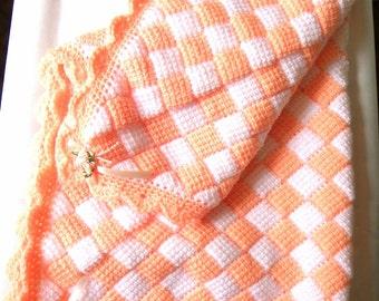 Tunisan Crochet Baby Blanket
