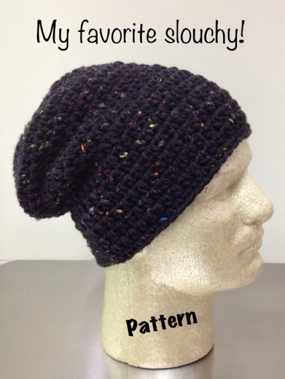 Free Crochet Pattern For Mens Slouchy Beanie : Etsy - Your place to buy and sell all things handmade ...