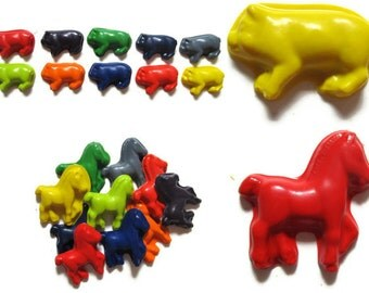 Pig and Horse Crayons set of 40 - party favors