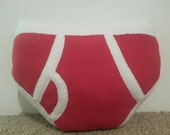 Red Pants Fleece Throw Pillow