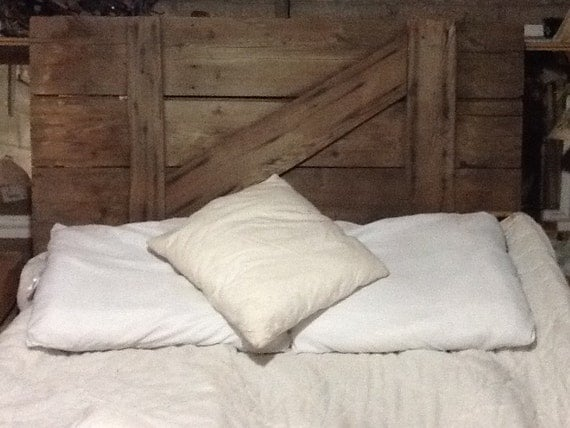 Lit King Bois De Grange : Rustic Barn Door Headboard