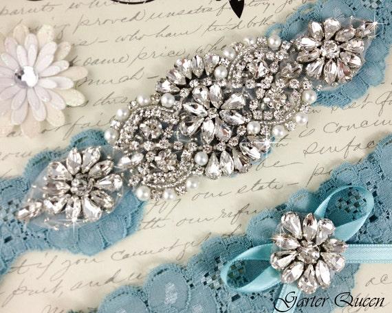 Heirloom Rhinestone and Crystal garters