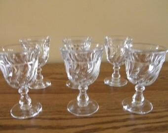 Fostoria Wine Glasses in the Colony Pattern (Set of 5)