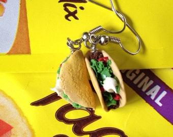 Hard Shell Taco Dangle Earrings