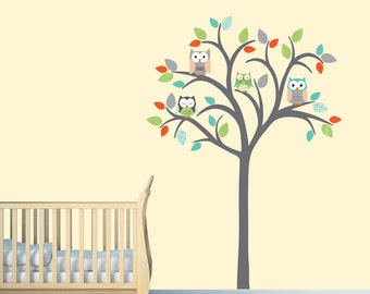 Owl Tree Wall Decal Owl Tree Wall Sticker Nursery Wall - Wall decals nursery nz