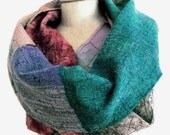 long nuno infinity scarf for women teal peach red green lilac purple