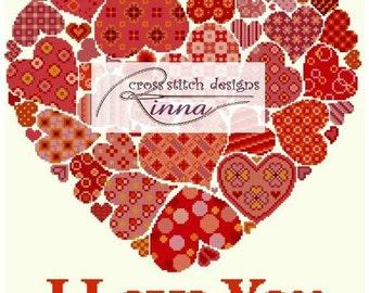 I Love You - Red Hearts Sampler