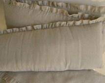 Linen  nursery bedding gender neutral-  4 side bumper - crib bedding