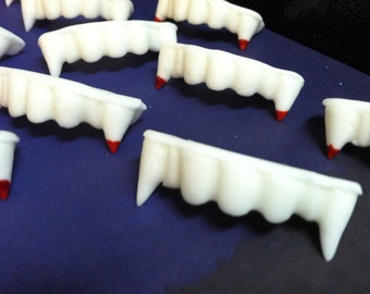 Fondant Halloween Vampire Teeth Cupcake Toppers