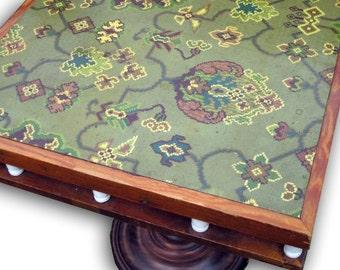 Vintage Marmoleum Wood Side Table