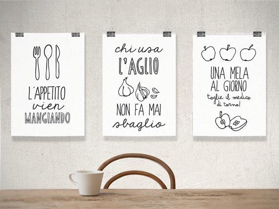 items similar to set of prints kitchen decor kitchen