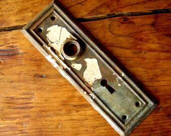 vintage escutcheon plate