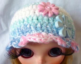 NEW Blythe Knit Hat with Flower Buttons