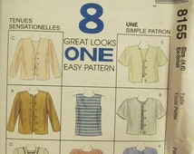 McCall 8155 UNCUT Pattern / Top & Jacket / Size 4 and 6