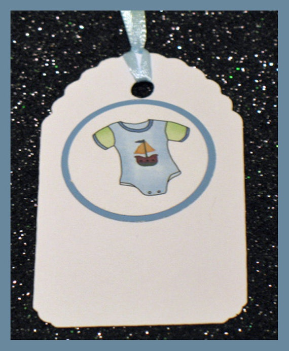 Baby Boy Gift Tags : Baby boy gift tag shower favor tags