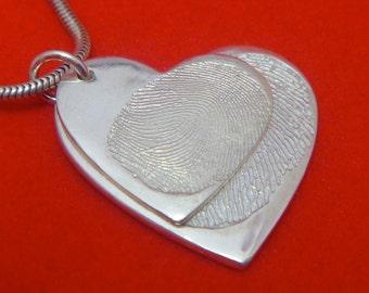 descending heart  fingerprint pendant-PLEASE SCROLL DOWN for full details