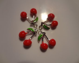 Cherry Silver Plated Casting Charm