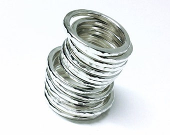 Sterling Silver Handmade Stackable Rings - made using 2mm 100% recycled sterling silver wire - made to order in your size