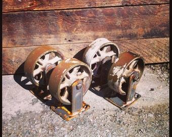 Vintage Industrial Casters