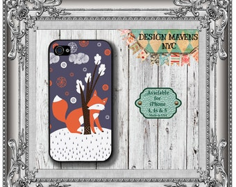 Forest Fox iPhone Case, Fall iPhone Case, Autumn Case, iPhone 4, 4s, iPhone 5, 5s, iPhone 5c, iPhone 6, 6s, 6 Plus, SE, iPhone 7, 7 Plus