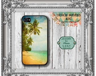 Hawaii Beach iPhone Case, Summer iPhone Case, Island iPhone Case, iPhone 7, 7 Plus, iPhone 6, 6s, 6 Plus, SE, iPhone 5, 5s, 5c, 4, 4s