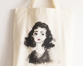 Custom Portrait Tote Bag