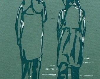 Commission a lino cut portrait
