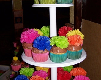 Paper Flower Appetizer Picks (count of 20) Choose Your Own Colors