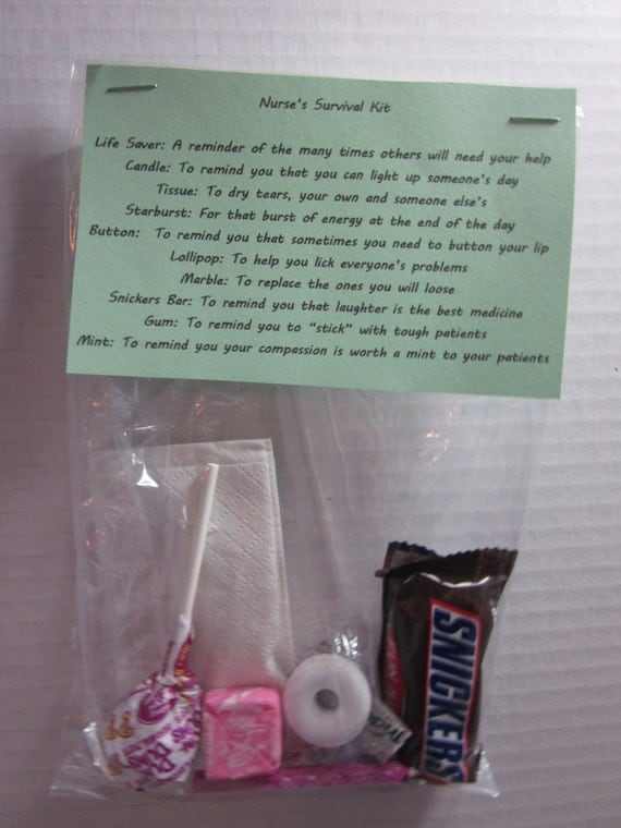 Items similar to Nurse's Survival Kit Novelty Gag Gift on Etsy