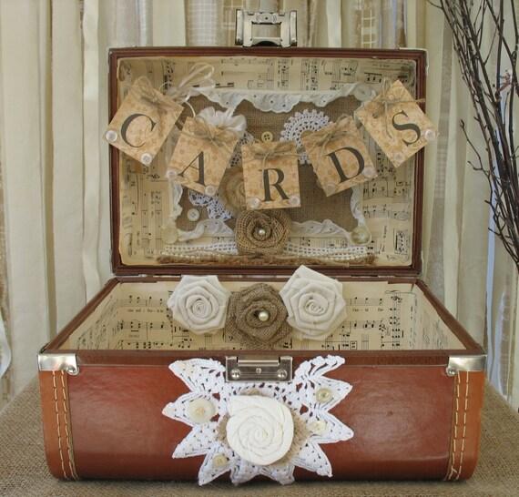 Vintage Suitcase Card Box Vintage Suitcase Wedding Card