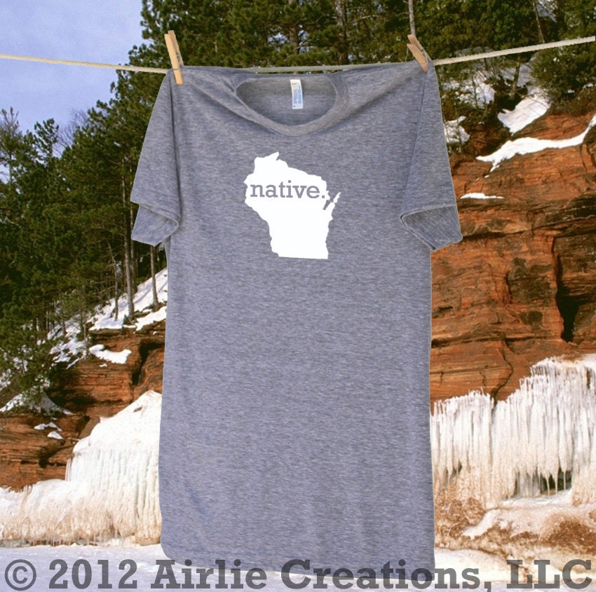 Native Wisconsin Plants: Wisconsin Home State NATIVE T Shirt More Shirt And By