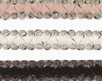 Chiffon Trim Lace for Women baby girls Hair Clip, Hair Accessories Clothing Annielov Chiffon Trim Lace 10 - 1 yard (90cm)