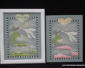 STORK BIRTH SAMPLER (pink only)