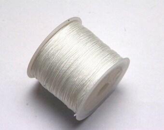 10m of Nylon Thread Cord in white
