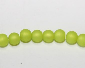 10 Piece 6mm of Polaris beads in bright green PL21-6