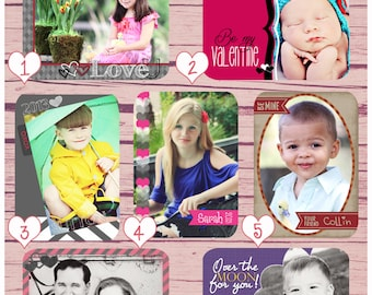 Valentine's Day Photo Card Templates - 7 PSD Valentine's Day Templates, Wallet Card Templates