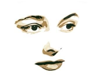 "Original Hand-Cut Paper Portrait - ""Patricia Neal"""