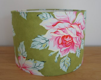 Drum lampshade 30 cm handmade in Heather Bailey Nicey Jane fabric